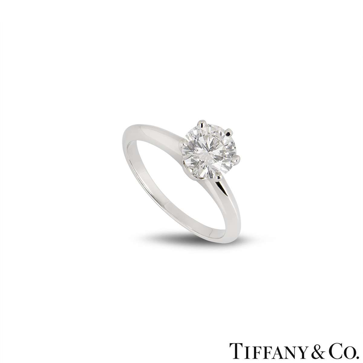 Tiffany & Co. Platinum Diamond Setting Ring 1.01ct D/VS1